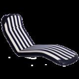 Comfort seat -Classic kingsize blue-white stripe