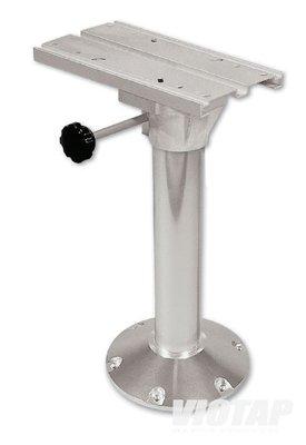 Viotap stoelpoot draaibaar met slede 40cm hoog.