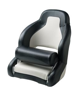 Stuurstoel Pilot wit-zwart